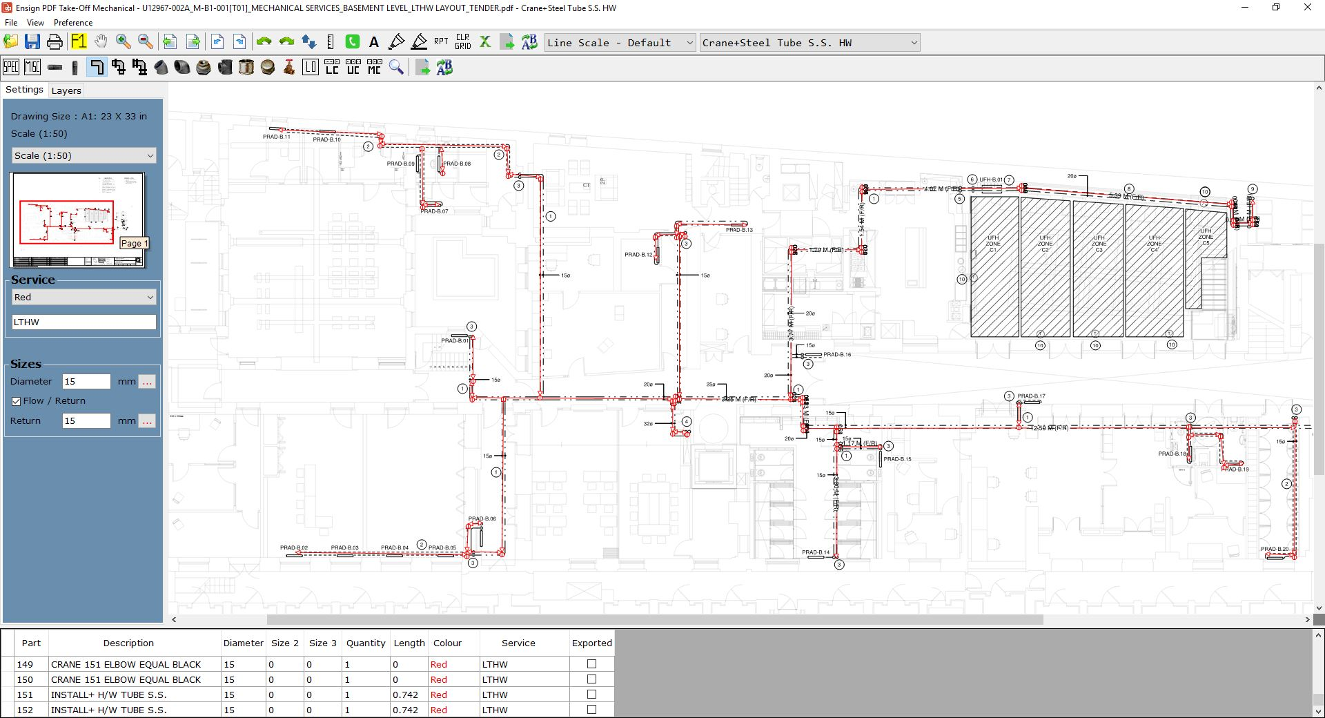 Mechanical Contractor Software Ensign Piping Diagram Program For Ventilation And